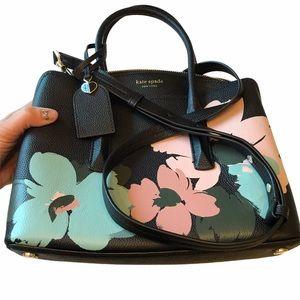 KATE SPADE Brush Bloom Margaux Medium Satchel Bag